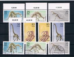 DDR 1990 Dinos Mi.Nr. 3324/28 Kpl. Satz ** + Gestempelt - DDR