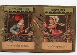 Paris Bd Voltaire: Chromo Calendrier Nov 1885 à Avril 1886  AUX TRAVAILLEURS  (PPP17877) - Calendars