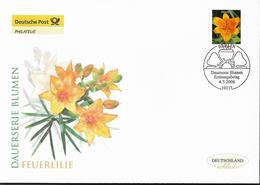 2006  Deutschland Allem. Fed. Mi. 2534 FDC  Blumen : Feuerlilie (Lilium Bulbiferum) - FDC: Enveloppes