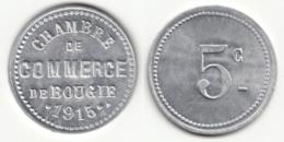 Monnaie De Nécessité - 5 Ct Chambre De Commerce De Bougie 1915 - Algérie - Colonie