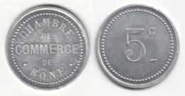 Monnaie De Nécessité - 5 Ct Chambre De Commerce De Bône - Algérie - Colonie
