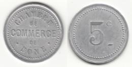 Monnaie De Nécessité - 5 Ct Chambre De Commerce De Bône - Algérie - Colonies