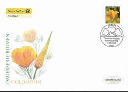 2006  Deutschland Allem. Fed. Mi. 2568 FDC  Blumen :  Goldmohn (Eschscholzia Californica) - FDC: Enveloppes