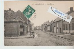 COURRIERES : La Rue D'Harnes,animée. - France