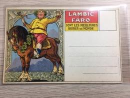 Postkaart- Carte Postale Ongebruikt /neuf  Lambik Et Faro Thema's Bier / Bière Brouwerij / Brasserie / Paard /cheval - Belgique