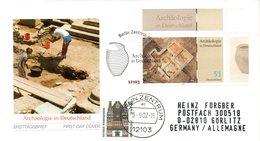 """BRD Schmuck-FDC: """"Archäologie In Deutschland"""", Mi.2281 ZF ESSt 5.9.2002 BERLIN ZENTRUM - [7] République Fédérale"""
