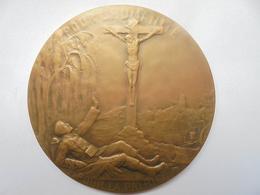 BELGIQUE 1914-JESUS PROTEGE LA BELGIQUE Par WITTERWULCHE JH. -86 Grammes-65 Mm - Professionnels / De Société