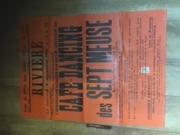 RIVIERE 1970 Vente Café Dancing Des Sept Meuse !!! - Affiches