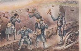 Militaria : Alerte Aux Gaz  ( Illustrateur - A. Degert ) - Guerre 1914-18