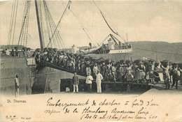 ANTILLES  ILES VIERGES  SAINT THOMAS  Embarquement De Charbon - Vierges (Iles), Britann.