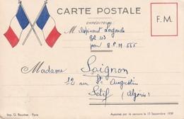 FRANCE 1944 CARTE DE FRANCHISE MILITAIRE - Storia Postale