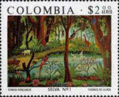 USED STAMP Colombia - Airmail - Colombian Art -1975 - Colombia