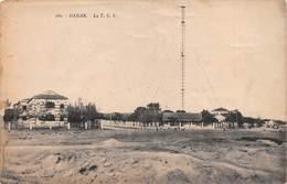"M07851 ""DAKAR - LA T.S.F."" ANIMATA,ANTENNA RADIO  CART ORIG. NON SPED. - Senegal"