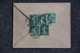 Timbres Sur Lettre De TOULOUSE Vers NIMES - Lettres & Documents