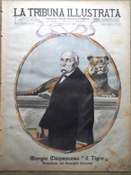 La Tribuna Illustrata 9 Marzo 1919 Georges Clemenceau Francia Rossoni Sebenico - Other