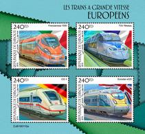 Djibouti. 2019 European Speed Trains. (0110a)  OFFICIAL ISSUE - Trains