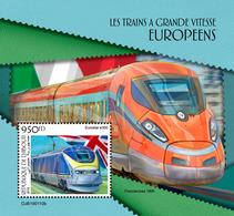 Djibouti. 2019 European Speed Trains. (0110b)  OFFICIAL ISSUE - Trains