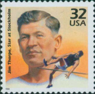 USA 1998 Celebrate The Century 1910's Stamp Jim Thorpe Sc#3183g History Famous Jumping Sport - Jumping
