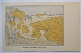 Deutsche Ernte In Flandern, Sign. Karl Arnold, Kriegszeitung Lille (59818) - Weltkrieg 1914-18