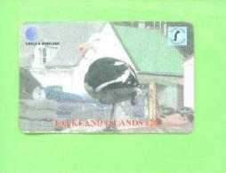 FALKLAND ISLANDS - Remote Phonecard/Gull - Songbirds & Tree Dwellers