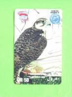 QATAR -  Remote Phonecard/Falcon - Eagles & Birds Of Prey