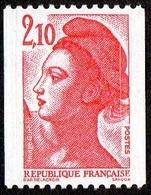 France N° 2322 **  Liberté De Gandon Le 2f10 Rouge De Roulette, 2 Bandes De Phosphore - France