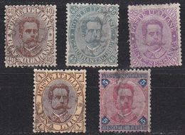 ITALIEN ITALY [1889] MiNr 0050-54 ( O/used ) [01] - Usati