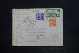 EGYPTE - Affranchissement Plaisant Du Caire Sur Enveloppe Pour La France En 1945 Avec Contrôle Postal - L 26078 - Covers & Documents