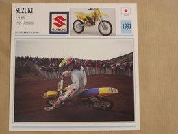 SUZUKI 125 RM Yves Demaria Japon Japan 1991  Moto Fiche Descriptive Motocyclette Motos Motorcycle Motocyclette - Non Classés