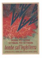 CARTOLINA CARTE POSTALE  BOMBE SULL'INGHILTERRA - Pubblicitari
