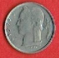 BELGIUM # 1 Franc - Baudouin I French Text  FROM 1977 - 1951-1993: Baudouin I