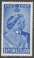 Swaziland. 1948 KGVI Royal Silver Wedding. 1½d MH. SG 46 - Swasiland (...-1967)