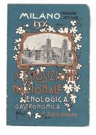 CARTOLINA CARTE POSTALE MILANO IV ESPOSIZIONE NAZIONALE ENOLOGICA GASTRONOMICA PORTA GENOVA 1904 Illustratore PETROPOLI - Pubblicitari