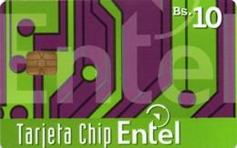 *BOLIVIA* - Scheda A Chip Usata - Bolivië