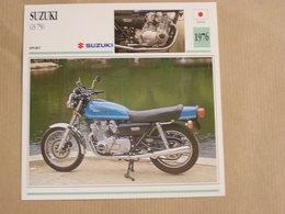 SUZUKI GS 750 Japon Japan 1976  Moto Fiche Descriptive Motocyclette Motos Motorcycle Motocyclette - Fiches Illustrées