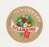 ETIQUETTE DE CAMEMBERT LAITERIE DE BAYEUX 14 Y GILAMAINE - Quesos