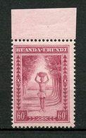 RUANDA URUNDI 1931 N° 97 ** Neuf MNH Superbe Porteur Indigène - Ruanda-Urundi