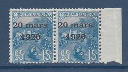 Monaco - YT N° 40 - Neuf Sans Charnière - 1920 - Monaco