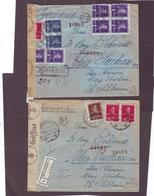 2 X Old Reco Cover OCNELE + BUCURESTI 1942 Germany Nazi Censor To Ober Suchau Silesia Teschen - World War 2 Letters