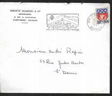 La Réunion Lettre Du 17 08 1967 Flamme Croix Rouge Saint Denis Intérieur - Reunion Island (1852-1975)