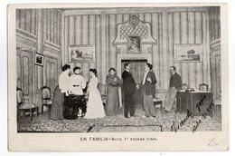 CPA SIMPLE   ARGENTINA  1905 TEATRO APOLO  EN FAMILIA    COMEDIA EN 3 ACTOS  DE FLORENCIO SANCHEZ  ESCENA FINAL - Theater