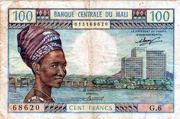 Billet De 100 Francs ND ( 1972-73 ) De La Banque Centrale Du Mali -en T T B - - Malí