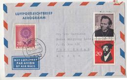 Germany Europa CEPT 1964 Stamp On Aerogramme Travelled 1966 Rain To Sudan B190320 - Europa-CEPT