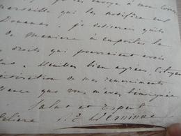 LAS Autographe Signée 3 Pan V Raymond De Verninac Saint Maur écrivain Diplomate 1762/1822 Envoi D'effets - Autógrafos