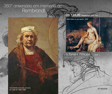 St.Tome&Principe. 2019 350th Memorial Anniversary Of Rembrandt. (0203b)  OFFICIAL ISSUE - Rembrandt