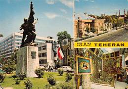 "M07857 ""IRAN-TEHERANN"" ANIMATA - 3 VEDUTE  CART ORIG. NON SPED. - Iran"