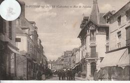 14 -Très Belle Carte Postale Ancienne De  SAINT PIERRE SUR DIVES  Rue De Falaise - Other Municipalities