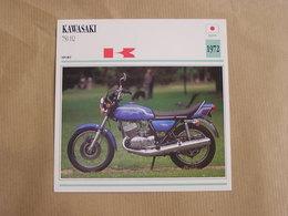KAWASAKI 750 H 2  Japan Japon 1972  Moto Fiche Descriptive Motocyclette Motos Motorcycle Motocyclette - Fiches Illustrées