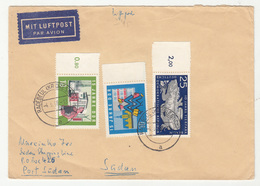 Germany DDR Air Mail Letter Cover Travelled 1966 To Sudan B190320 - [6] Democratic Republic