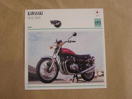 KAWASAKI 750 Z2 900 Z1   Japan Japon 1973  Moto Fiche Descriptive Motocyclette Motos Motorcycle Motocyclette - Fiches Illustrées